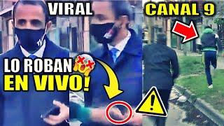 Roban celular a Periodista de Canal 9 EN VIVO   Sarandí - Buenos Aires - Argentina   Diego De Marco