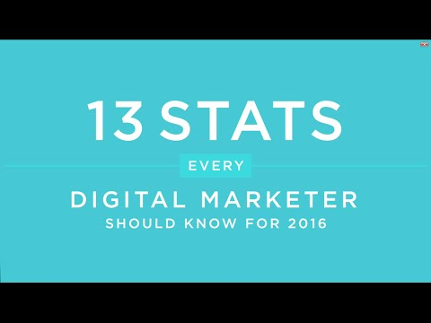13 Stats Every Digital Marketer Should Know 2016