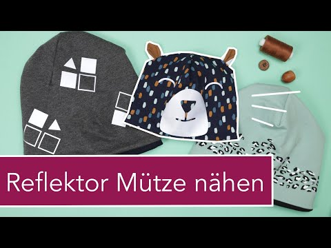 Reflektor Mütze nähe | kostenloses Schnittmuster & Plotter Dtei