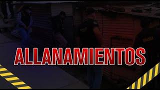 Realizan allanamientos en Santa Rosa y Suchitepéquez
