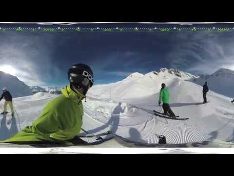 Skidåkning i Verbier filmat med Garmin VIRB 360