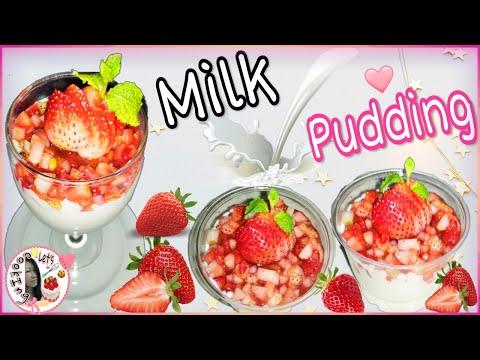 Strawberry-Milk-Pudding--พุดดิ