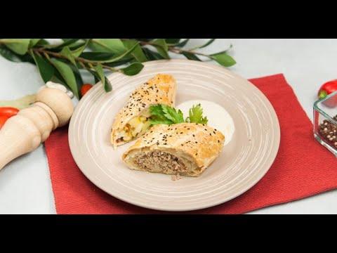 Мясо с жареной картошкой в виде пирогов | КПЗ. Офлайн