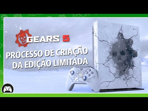 Criação do Gears 5 Limited Edition Xbox One X e do controle Kait Diaz