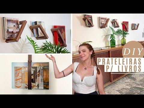 DIY Nicho p/ Livros Flutuante – Como fazer Prateleira/Nicho