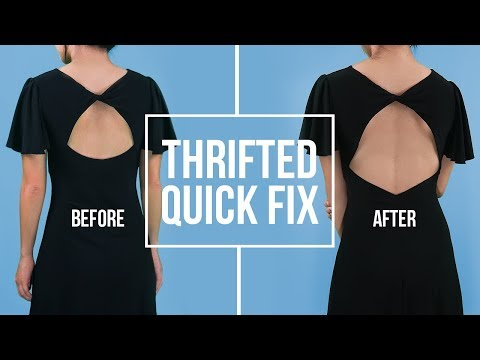 Low-Back Dress | Thrifted Quick Fix (VLOGMAS #4)