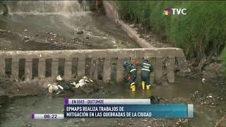 Epmaps efectúa trabajos de mitigación en quebradas de Quito