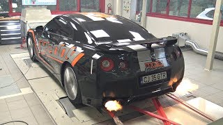 TUNED Nissan R35 GTR with GReddy Twin Turbo  Inconel Race Exhaust!