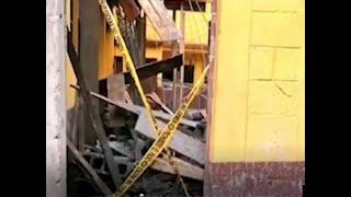 Una terraza se desplomó en San José Pinula