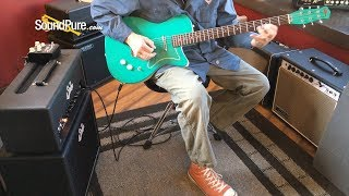 Jerry Jones Baritone Turquoise Electric #3758 (Used) Quick n' Dirty