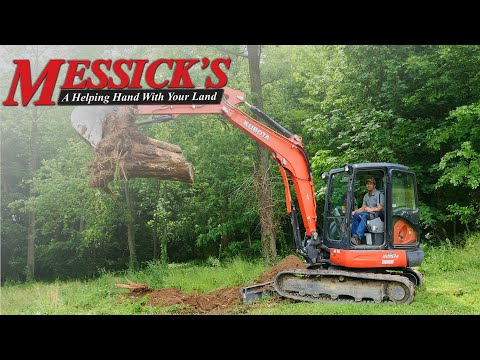 DIY Tree Stump Removal - Kubota KX057 Excavator Picture