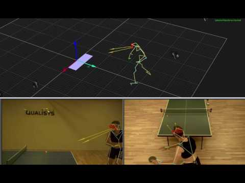 Table tennis - Eye tracking in QTM