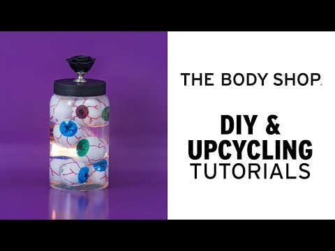How to – Halloween dekoration: Frankenstein burk fylld med ögon- The Body Shop