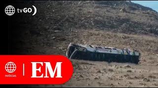 Ica: 27 fallecidos tras despiste de ómnibus en Nazca | Edición Mediodía