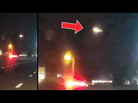 UFO tracks a car in Myrtle Beach South Carolina