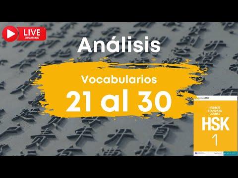 🔴 EN DIRECTO | Análisis de los vocabularios HSK 1 del 21 al 30 | Chino mandarín