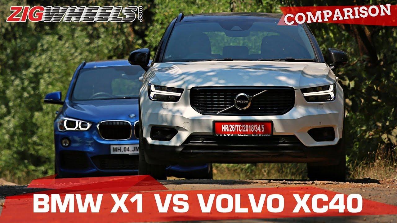 BMW X1 vs Volvo XC40 | Small SUVs, Big Luxury? | Zigwheels.com