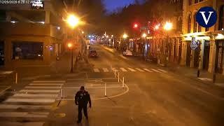 Las cámaras de seguridad captan el momento de la explosión de la bomba en Nashville
