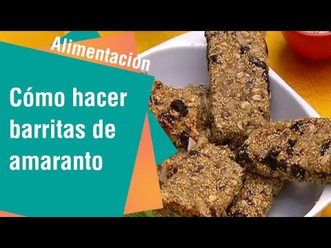 Cómo hacer barritas de amaranto con frutas   Alimentación Sana