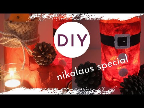DIY Nikolaus Special - PET Nikolausschuh und Laterne