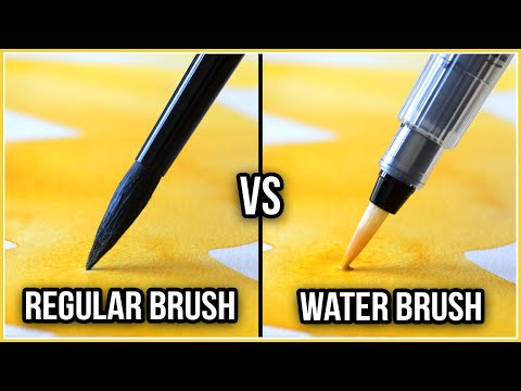 What Is The Difference Between a Regular Brush & a Water Brush