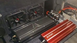 2 12s KICKER SoloX & 2 Amp ZX2500 1 Hi Voltage Power Loud Crazy Bass