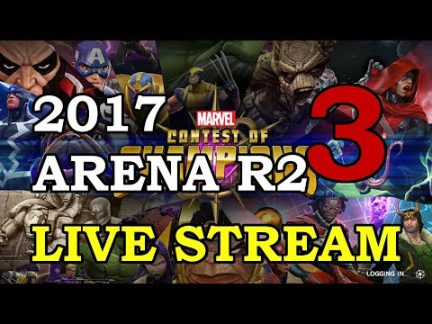 connectYoutube - 2017 Arena - Round 2 - Part 3   Marvel Contest of Champions Live Stream
