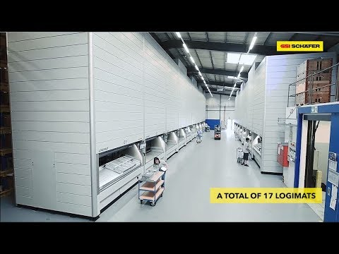 17 LogiMat® lagerautomater ved Müller Martini Druckverarbeitungs-Systeme AG