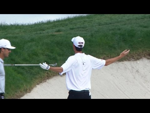 Chesson Hadley nearly holes bunker shot at The Honda Classic