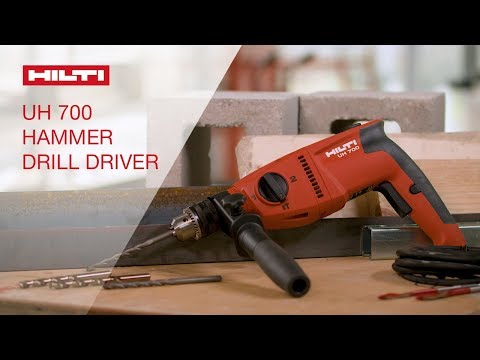 OVERVIEW of Hilti's UH 700 corded two-speed, high-torque hammer drill driver