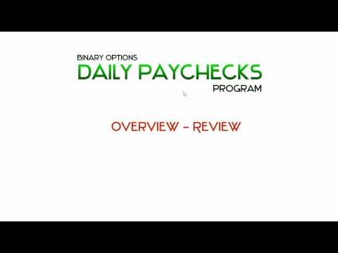 Binary Options Daily Paychecks Course and Program Review