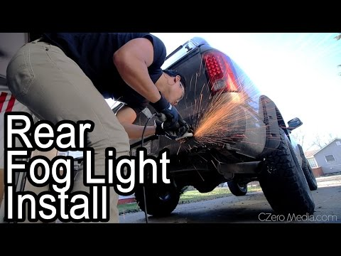 Bumper Mounted Fog Lights And LED Tail Lights Install - Project Asian Redneck Ram #9