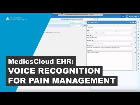 Voice Recognition Software for Pain Management