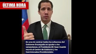 Mensaje importante de Juan Guaidó para la Salud en Venezuela