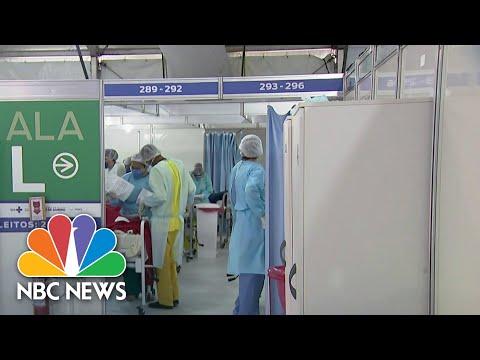 Inside Brazil Field Hospital Battling Coronavirus   NBC Nightly News