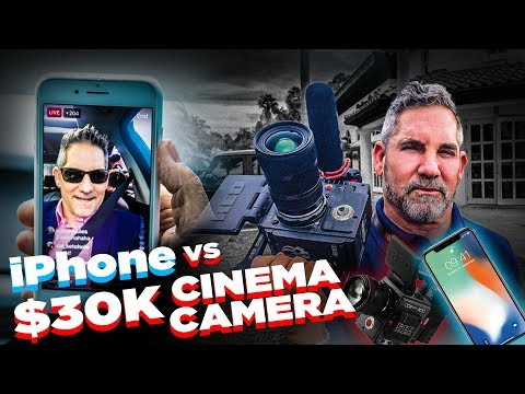 $30K Movie Camera Vs. Iphone - Grant Cardone photo