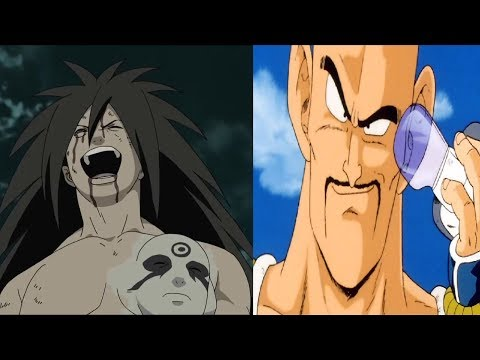 Madara vs Nappa and Dragon Ball Characters Power Levels (Naruto vs DBS)