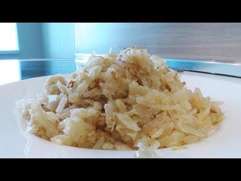 Жареная капуста с чесноком видео рецепт. Великий Пост.