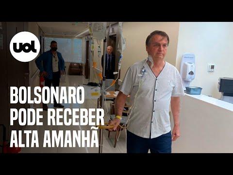 Quadro de saúde apresenta melhora e Bolsonaro pode receber alta amanhã