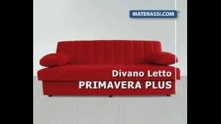 Materassi Com.Divano Letto Primavera Plus Youtube