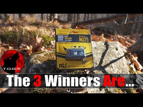 These Are The Three Winners for the NiteCore NU25 Headlamps