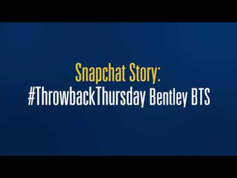 Snapchat Story: #ThrowbackThursday BTS at the Bentley