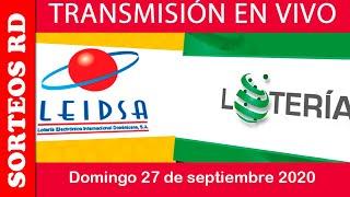LEIDSA y Loteria Nacional en  VIVO / domingo 27 de septiembre 2020