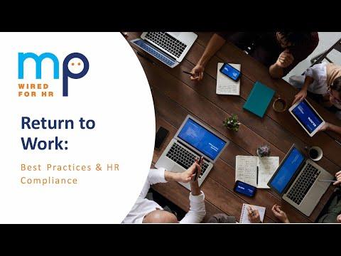 Return to Work Best Practices amp HR Compliance
