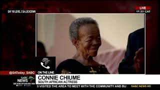 South African actress Connie Chiume pays tribute to the late veteran actress Mary Twala Mhlongo