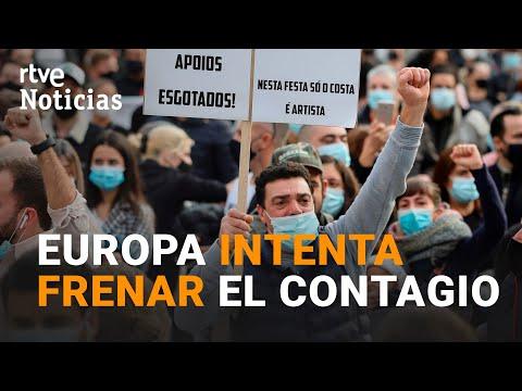 EUROPA quiere CONTROLAR la PANDEMIA con más RESTRICCIONES ante el AUMENTO de CASOS | RTVE