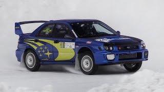 400+ hp Subaru Impreza WRX STi Racing on Snow – Turbo EJ20 Sound