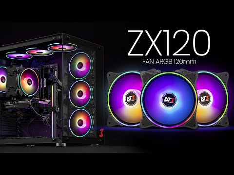 Fan ARGB ZX120 - DT3sports   O poder das cores