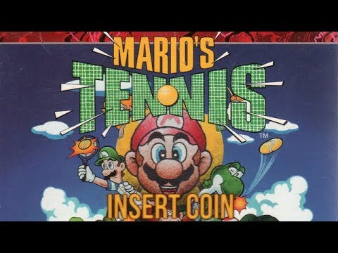 Mario's Tennis (1995) - Virtual Boy - Mario vs Princess
