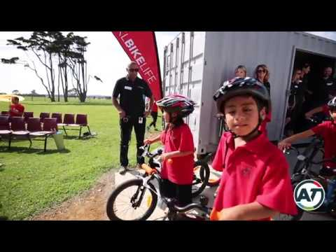 Pt. England School cycle track opening
